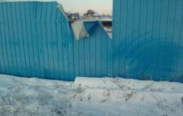В Кыре медведь сломал забор из профлиста и залез на подворье (видео)