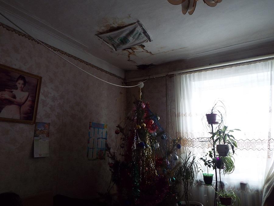 В Борзе на семью с детьми падает потолок