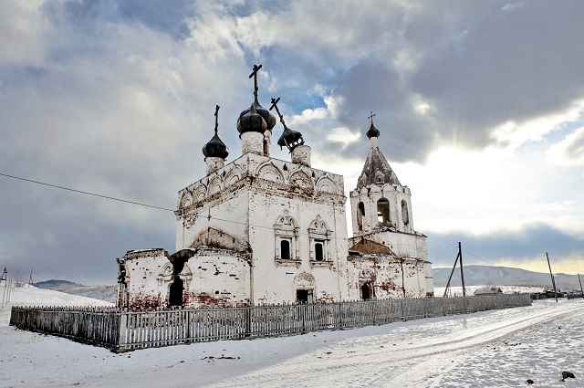 «Было – Стало»: Церковь Успения Божией матери в селе Калинино