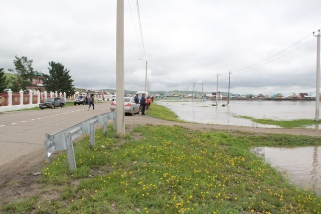 Наводнение не обошло стороной и степные районы Забайкалья
