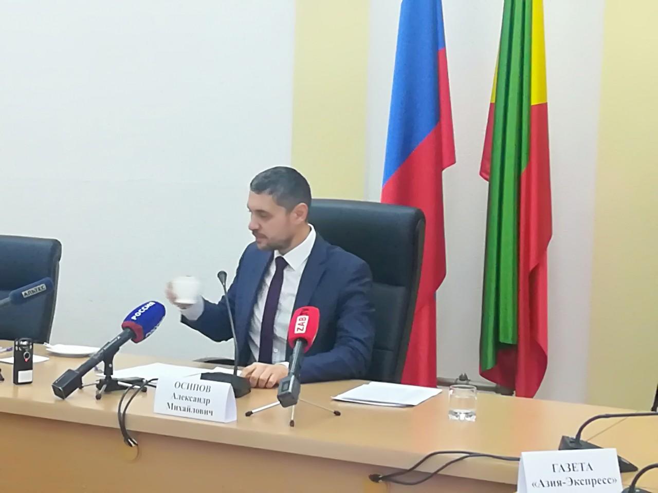 Первая пресс-конференция Осипова затянулась почти на два часа