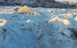 В Сретенске появился ледовый переход через Шилку, после посещения города
