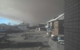 Сильный степной пожар бушует в Забайкальском районе