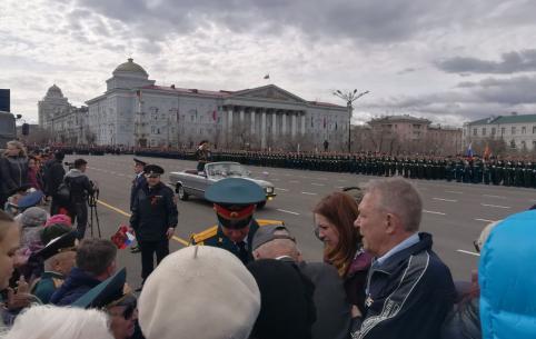 Парад в честь Дня Победы начался в Чите
