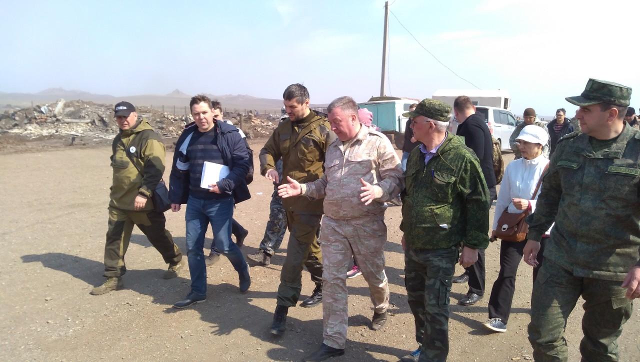 Осипов посетил выгоревшее село Тасырхой