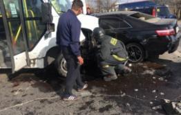 После тройного ДТП с маршруткой в Чите девять человек отправили в больницу