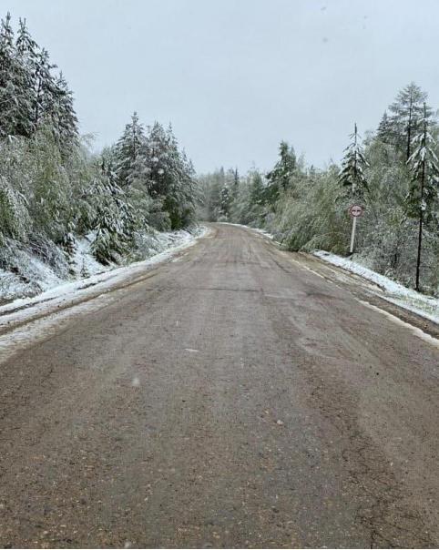 В Красночикойском районе Забайкальского края выпал снег