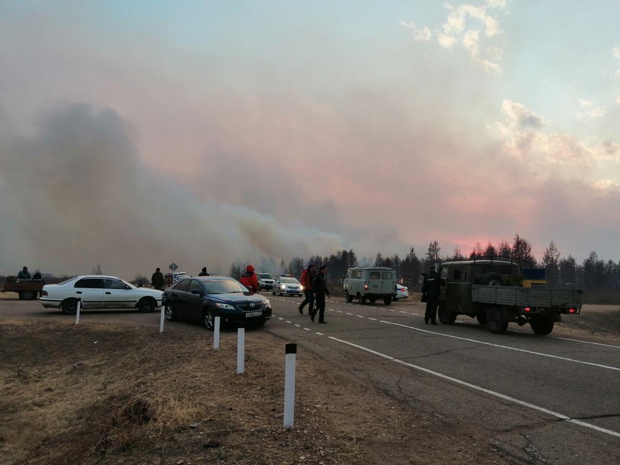 Лесной пожар у села Иван-Озеро. 23 апреля