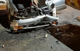 Фронтальный погрузчик столкнулся с Toyota Mark-2 в Могоче
