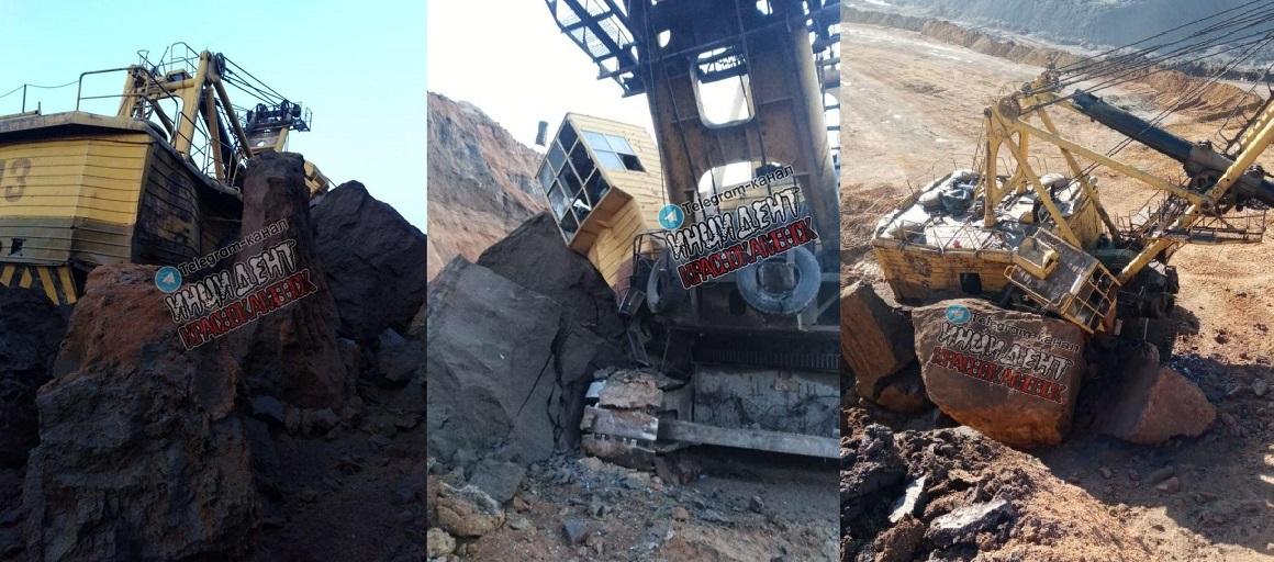 На угольном разрезе в Забайкалье произошел обвал грунта