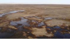 Барун-Торей - одно из двух Торейских озер на границе с Монголией - наполняется водой. Он полностью высох в 2009 году. 8 октября