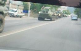 Колонна военной техники прошла в центре Читы