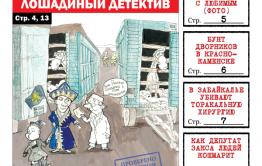 PDF-версия «Вечорки» № 17 (414): Трактор, лошадиный детектив, встреча Ждановой с суженым и депутат, что кошмарит целый дом
