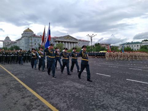 В Забайкалье проходит парад в честь 75-ой годовщины Великой Победы