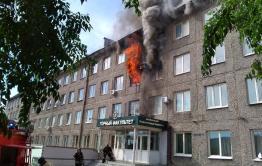 Здание факультета ЗабГУ горит в Чите