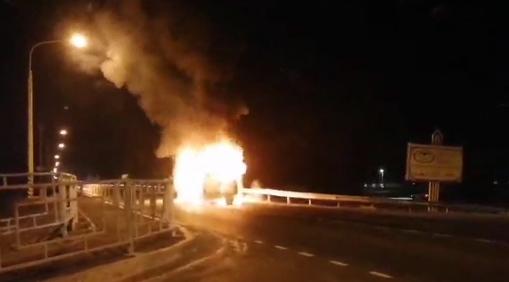Междугородная маршрутка сгорела в Забайкалье