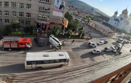 Светофор на месте ДТП с маршруткой в Чите не работал из-за повреждения кабеля - подрядчик проводил работы без ордера