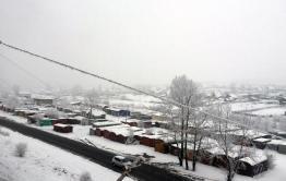 Первый снег выпал в Забайкалье (видео)
