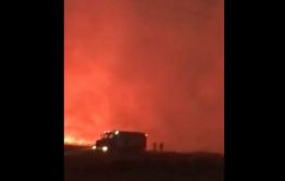 Жители Кадахты всю ночь отбивали село от подходящего пожара