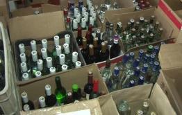 Полиция накрыла два контейнера с контрафактной водкой