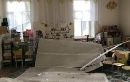 Следователи начали проверку по факту обрушения потолка в детском саду № 38 в Чите