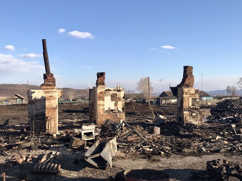 Врио Осипов в Алек.-Заводском районе посетил села, пострадавшие от пожаров