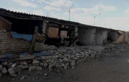 В гаражном кооперативе на КСК в Чите рухнула стена