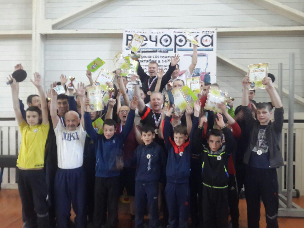 Юбилейный турнир по пинг-понгу провели в Красном Чикое при поддержке Вечорки