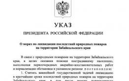 Путин своим указом объявил Забайкалье зоной ЧС