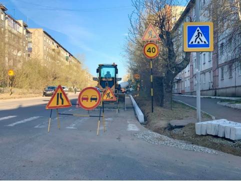 Ремонт восьми улиц по «дорожному» нацпроекту продолжается в Чите