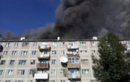 В Даурии горит многоквартирный дом. Есть пострадавший.