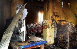 В Краснокаменске сгорел дом от удара молнии
