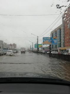 Потоп на перекрестке улиц Ковыльная-Красная Звезда