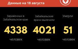Еще 15 новых случаев COVID-19 зафиксировали за сутки в Забайкалье