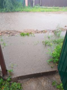 Затопленная ул. Лесная в с.Смоленка, 28.07.2020. Соцсети