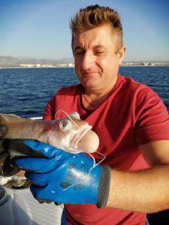 Неведомая зверюга, пойманная главредом в Средиземном море. Октябрь, 2019 г.