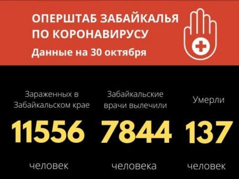 В Забайкалье за сутки от COVID-19 скончались 5 человек, еще 229 человек заболели