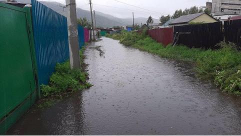 Дождь подтопил несколько улиц частного сектора в Чите