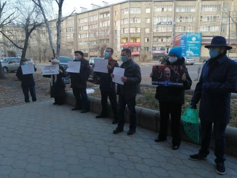 В Чите состоялся пикет против главреда «Вечорки» Кантемира