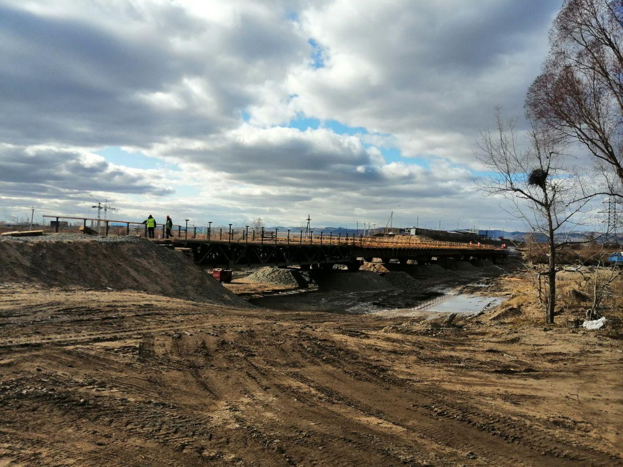 «Вечорка» проинспектировала строительство Каштакского моста в Чите. Видео.