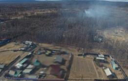 Села Читинского района вокруг Ивано-Арахлейских озер обесточены из-за пожара
