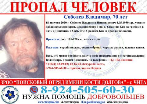Житель Средней-Кии, который ушел за грибами в августе, до сих пор не найден