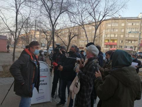 Пикет оппозиции под стенами «Вечорки»: ложь, звездеж и провокация