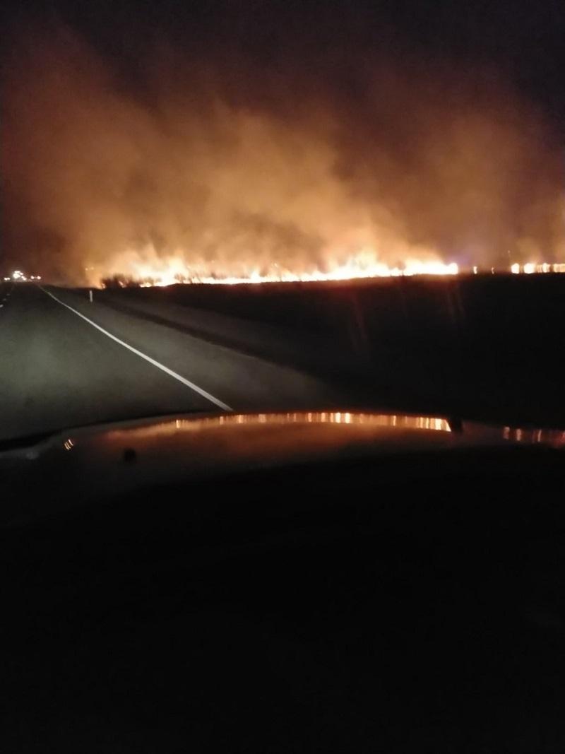 Пожар в районе пади Лапочкина и СНТ «Учитель»