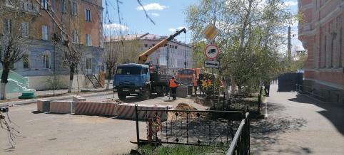 Центральная улица Читы перекрыта из-за ремонта (видео)