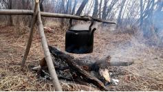 Нет ничего вкусней чая из воды Онона, приготовленного в прокопченном чайнике на костре. 13 марта