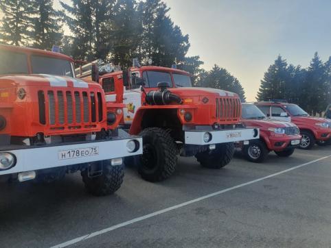 Забайкалье получило 25 новых машин пожарной техники