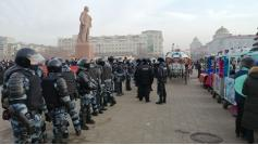 Как в сказке.  Митинг в поддержку Навального, Чита, 23.01.2021