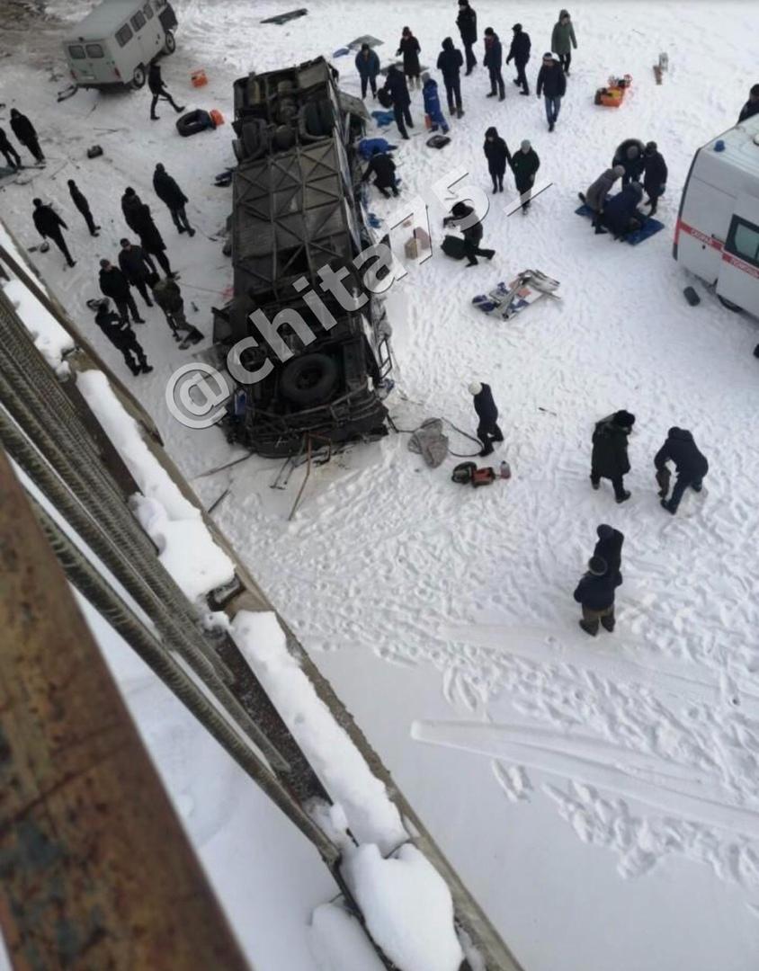 Видео с места ДТП с автобусом Сретенск — Чита появилось в сети