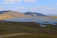 Вот так разлился Онон в районе села Нуринск Могойтуйского района. Селу повезло, оно находится на возвышенности. 19.09.2020